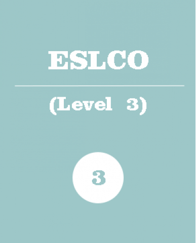 ENGLISH AS A SECOND LANGUAGE, LEVEL 3, OPEN, (ESLCO), 1 credit